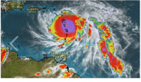 Hurricane Maria heading towards Dominica