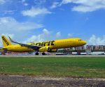 Spirit Airlines landing at SXM Airport 28sep2017