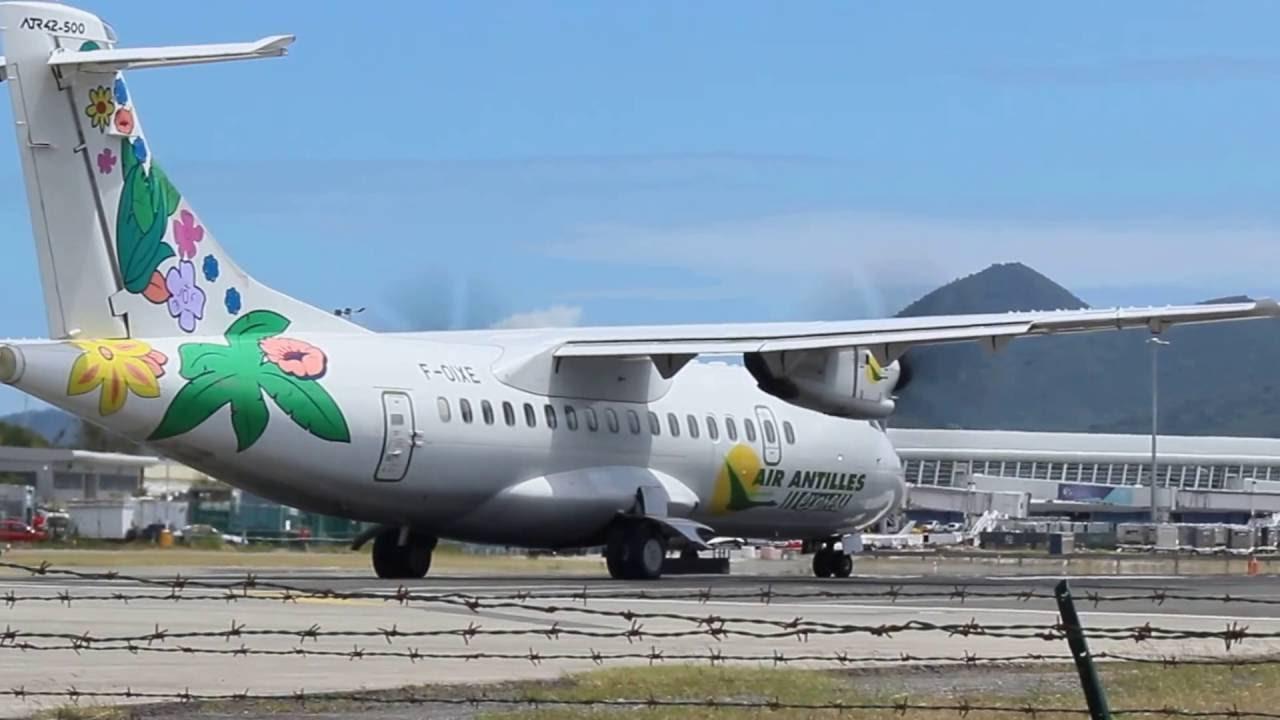 Air Antilles ATR-47 aircraft flying for Winair