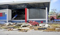PSS Post Office building after Hurricane Irma damages