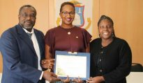 Minister Jacobs with Mr. Blijden and Ms. Henry – SG UNESCO