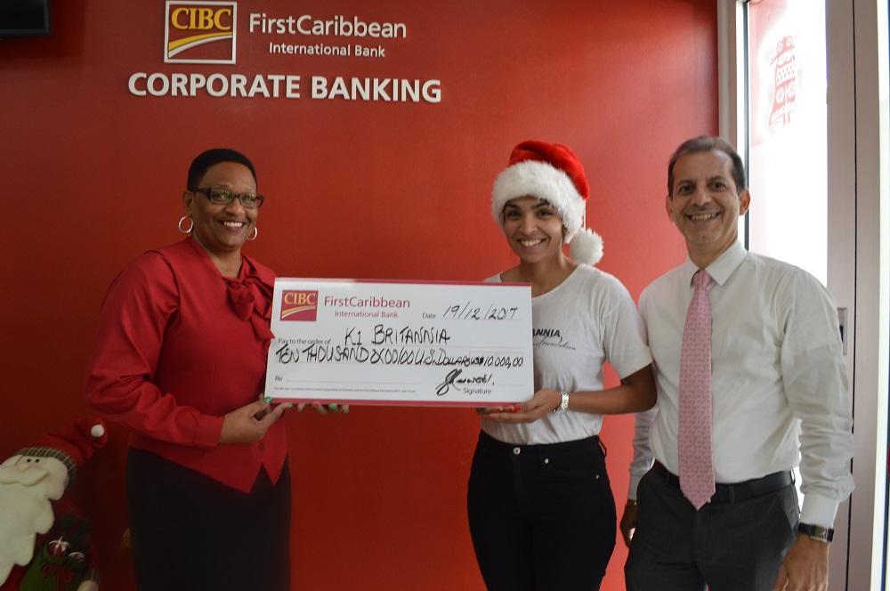 CIBC FirstCaribbean donation K1 Britannia