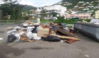 VROMI photo garbage at Jose Lake ballpark parkinglot