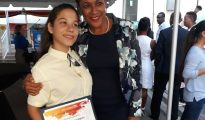 Jorien Wuite and student winner