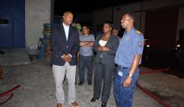 MinJust and PM visit scene of fire