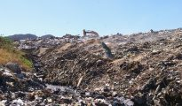 St. Maarten landfill dump on fire smoking