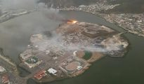 Aerial photo both fires dump sites - 20180206 Photo provided