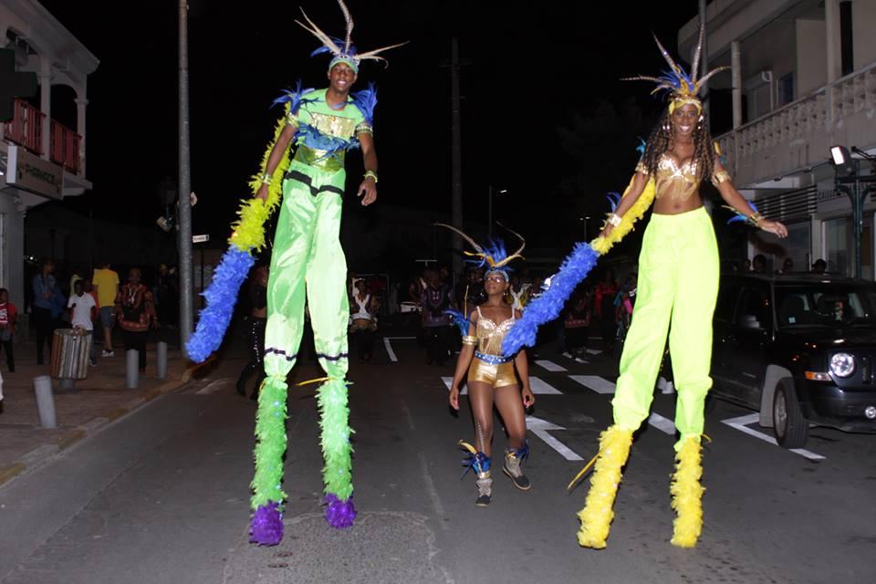 French carnival pole sticker walkers