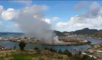 Irma Dump Fire on Pond Island