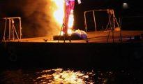King Momo burning