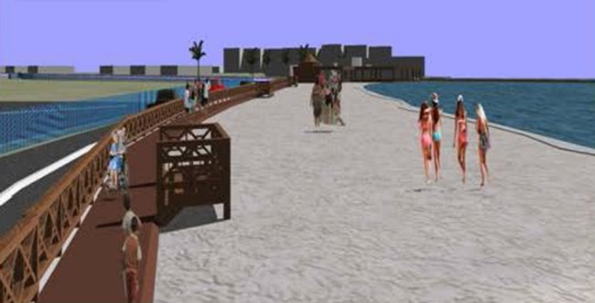 Maho Beach boardwalk