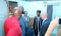 PM Leona Marlin - Raymond Knops visit roof repair candidates