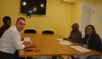 Glen Carty director SZV visits Ombudsman Nilda Arduin