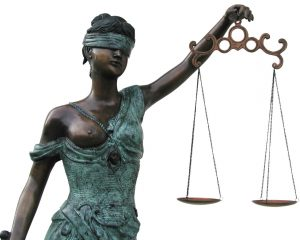 Lady Justice Themis is blind