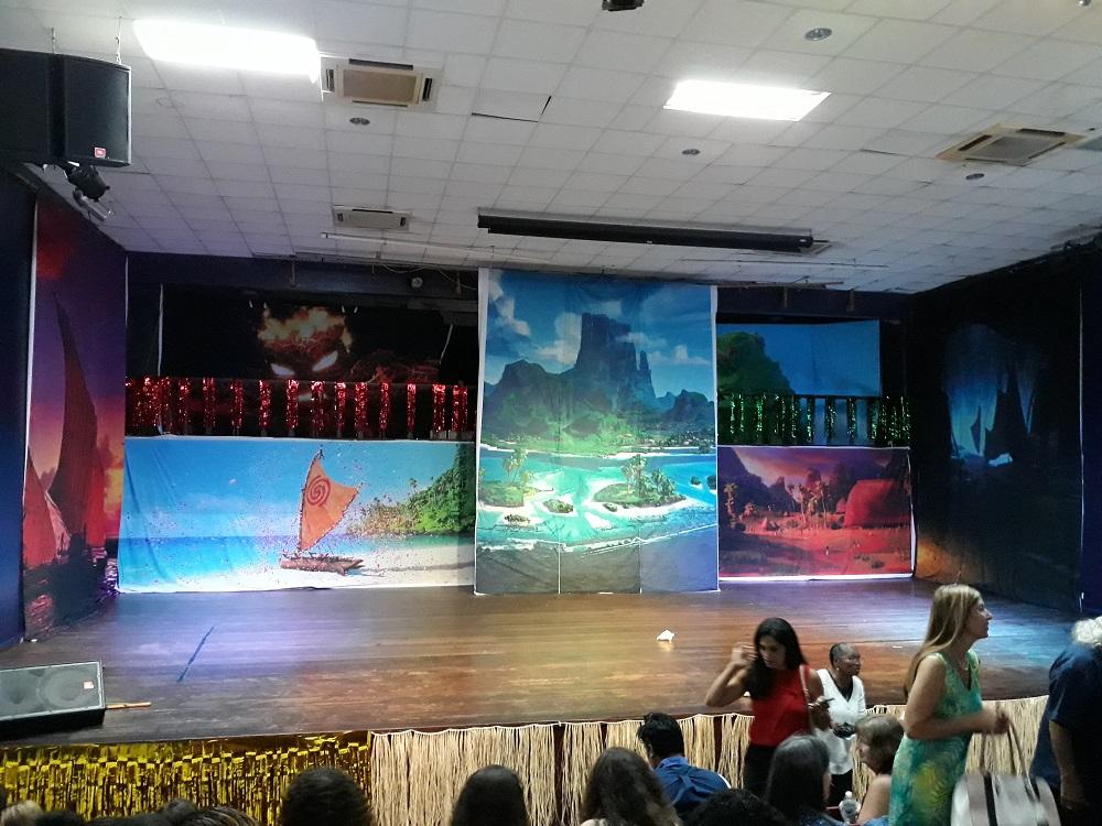 Moana stage set Philipsburg Cultural Center