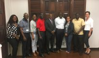 Nevis delegation with SXM Airport Management