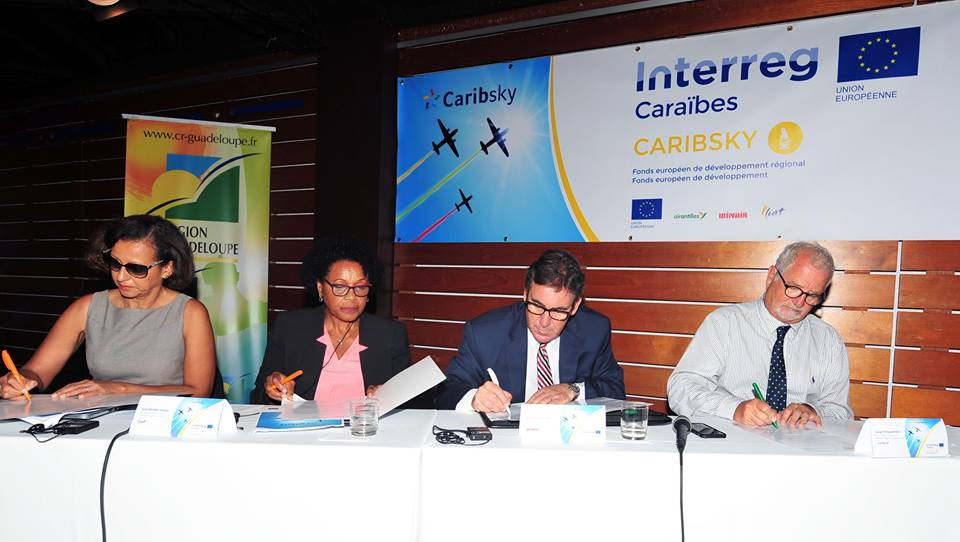 CaribSKY Alliance Launching Event - pic 6 - signing