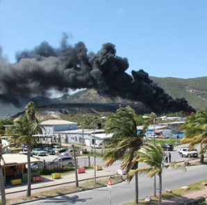Dump fire on Pond Island - Provided by SHTA