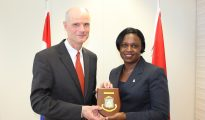 Dutch Minister of Foreign Affairs Stef Blok pays Courtesy Visit to PM Leona Marlin-Romeo