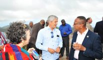 Official ribbon cutting opening ceremony Rainforest Adventures Park Rockland Estate Theo Heyliger Wycliffe Smith - 20180411 MP