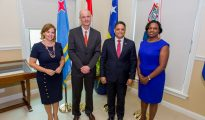 PM Leona Marlin Romeo working visit Curacao