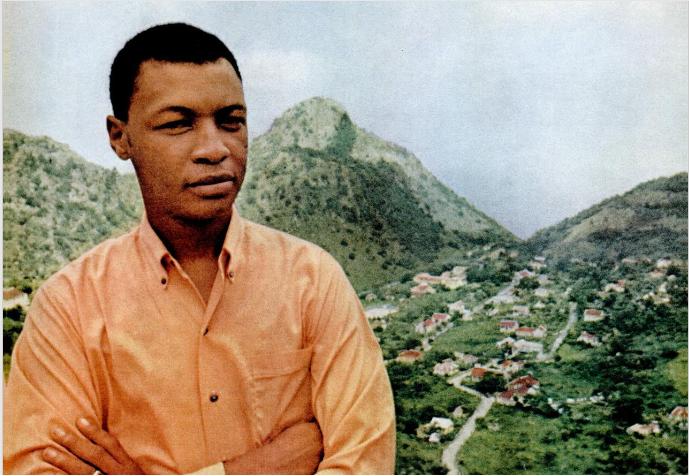 A Younger Joseph Richardson in Saba - photo Ebony Magazine provided by Wycliffe Smith