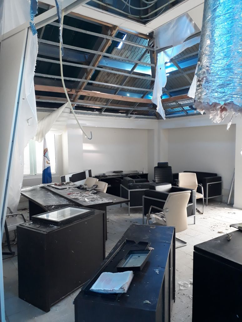 Damage PM Office Government Building