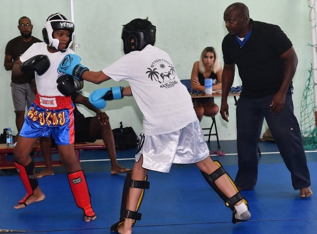St. Maarten Martial Arts Federation - 9 year old Jaden Busby competed in both Muay Thai and Jiu Jitsu