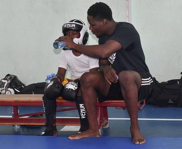 St. Maarten Martial Arts Federation - Sensei Akeem coaches young Shaquille Carbon