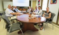 World Bank project leaders with hospital tripartite members