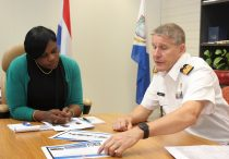 Dutch Navy Commander for the Caribbean De Vin visit PM Leona Marlin-Romeo
