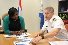 Dutch Navy Commander for the Caribbean De Vin visit PM Leona Marlin-Romeo