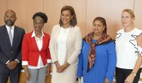 L2R - Theo Elting - Shermina Powell-Richardson - Minister Jorien Wuite - Claire Elshot - Suzan Aafjes 20180606 - HH