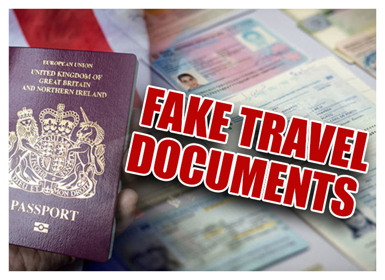 Image result for images of false travel documents