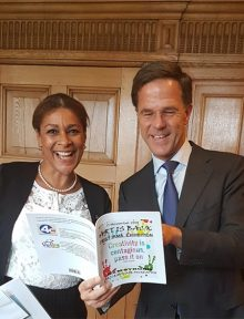 Minister Jorien Wuite and Dutch Prime Minister Mark Rutte 1