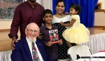 author with fernandes family sbw book party 7 7 18