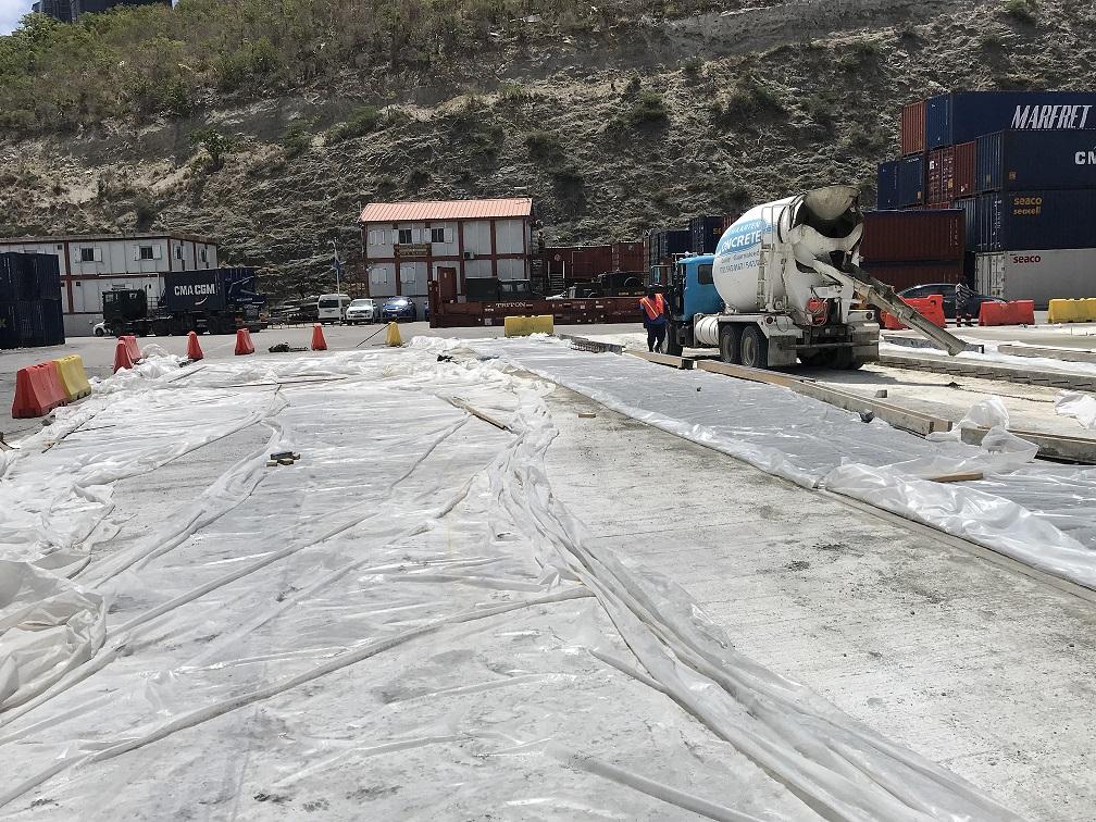 Cargo Platform Area Concrete Resurfacing Works Underway
