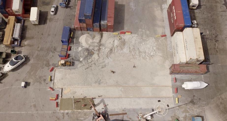 Cargo Platform Area Top View for Resurfacing