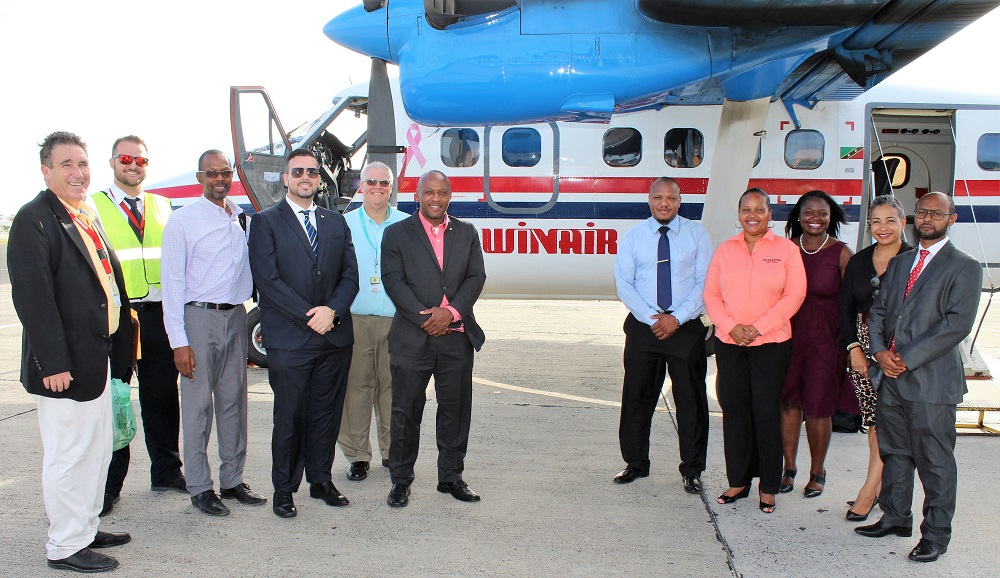 Delegation Ministry of Tourism to Saba with Winair