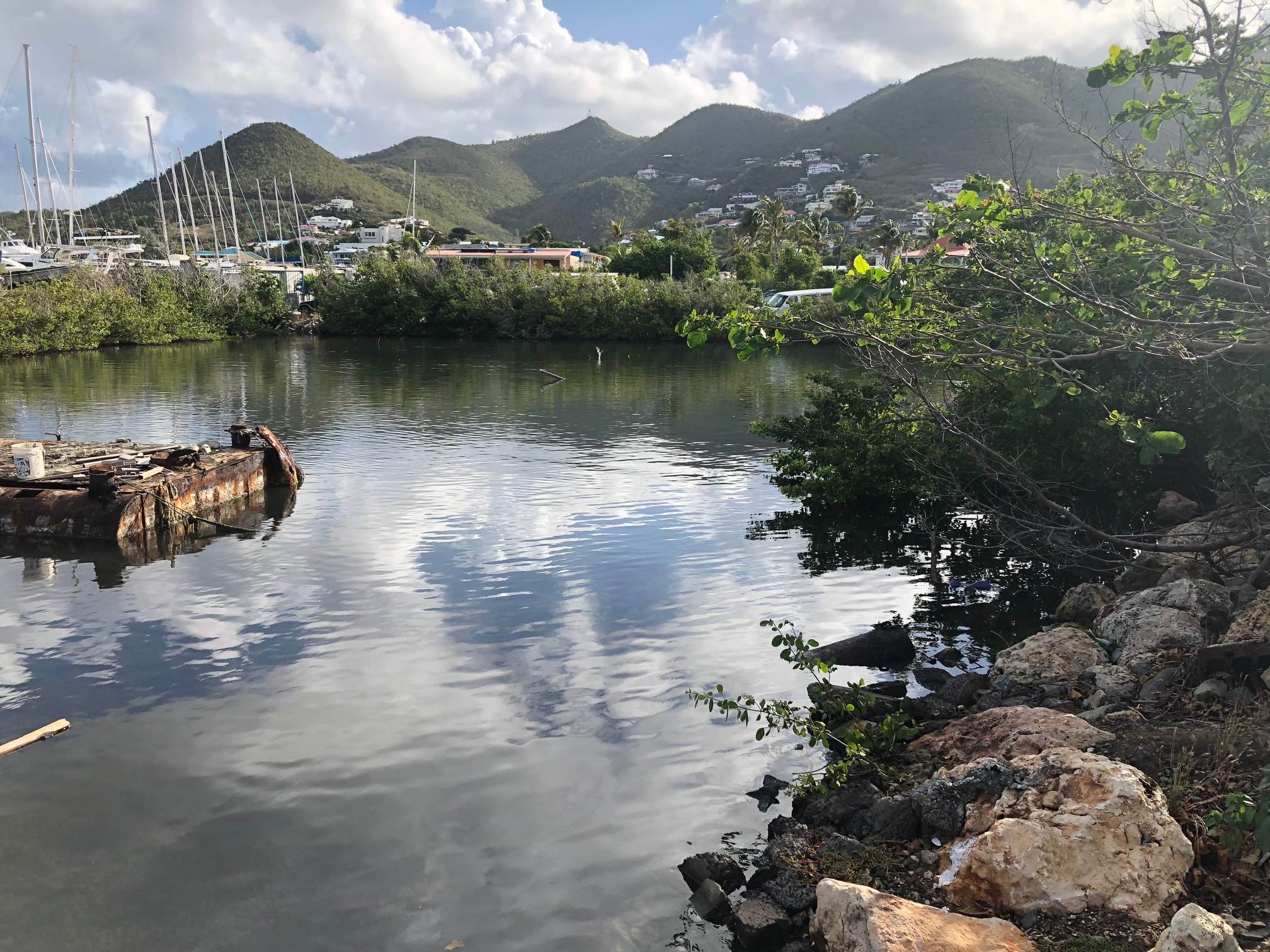 Diesel oil spill Cole Bay lagoon (3)