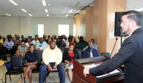Minister Stuart Johnson Intro Meeting TEATT staff 20180808