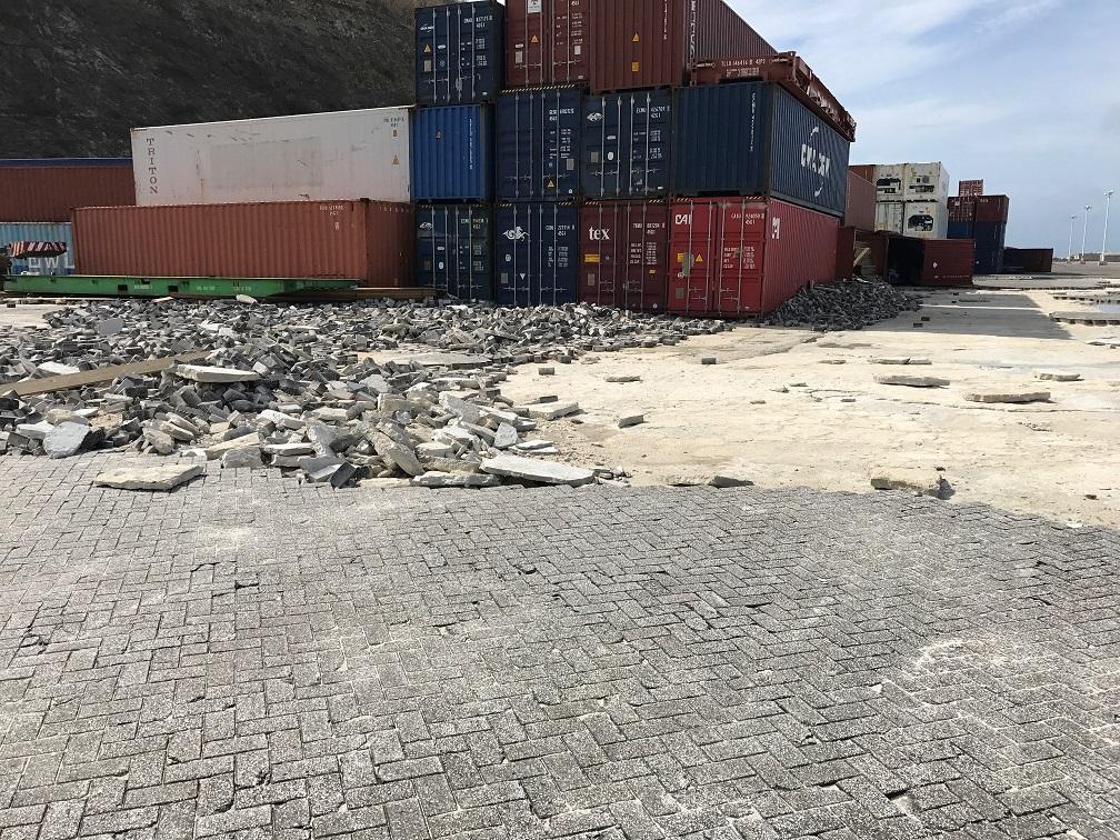 Post Irma Cargo Facility Platform Damage