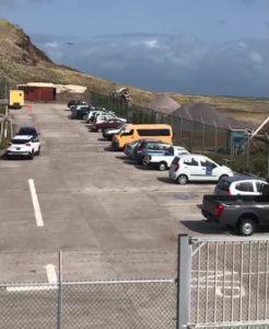 Saba Airport parking lot 2