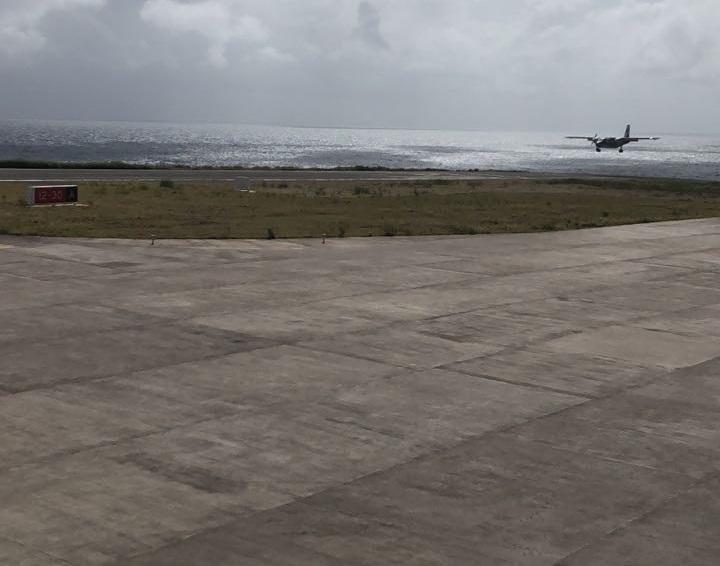 Saba Airport ramp
