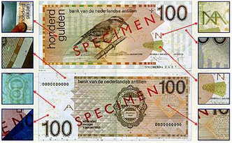Security Features 100 Guilder Banknote