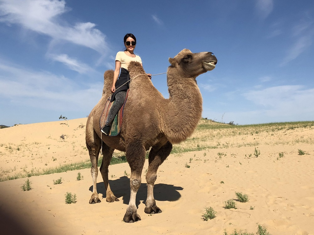 Boogii looks regal on her camel - 20180829 HH