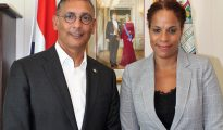 Drs. Nichalin Martina (Tax Office Bonaire) visits Minister of Finance 20092018