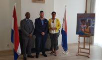 Minister Stuart Johnson visit St. Maarten House