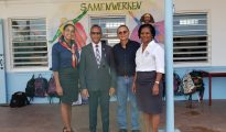 Minister Wycliffe Smith at Sr. Regina School