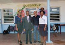 Minister Wycliffe Smith at Sr. Regina School